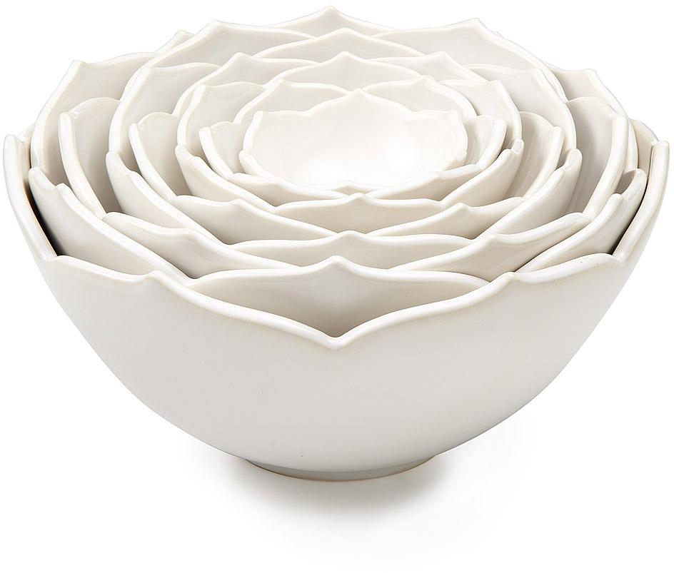 Nesting Lotus Bowls | Whitney Smith, Ceramic, Flower | UncommonGoods