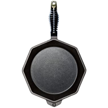 FINEX - 10  Octagonal Cast Iron Skillet, Hand Seasoned with Organic Flaxseed Oil, Heritage Quality Cookware, Handcrafted in the USA