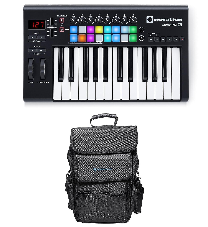 Amazon com: Novation LAUNCHKEY-25-MK2 25-Key USB MIDI Ableton