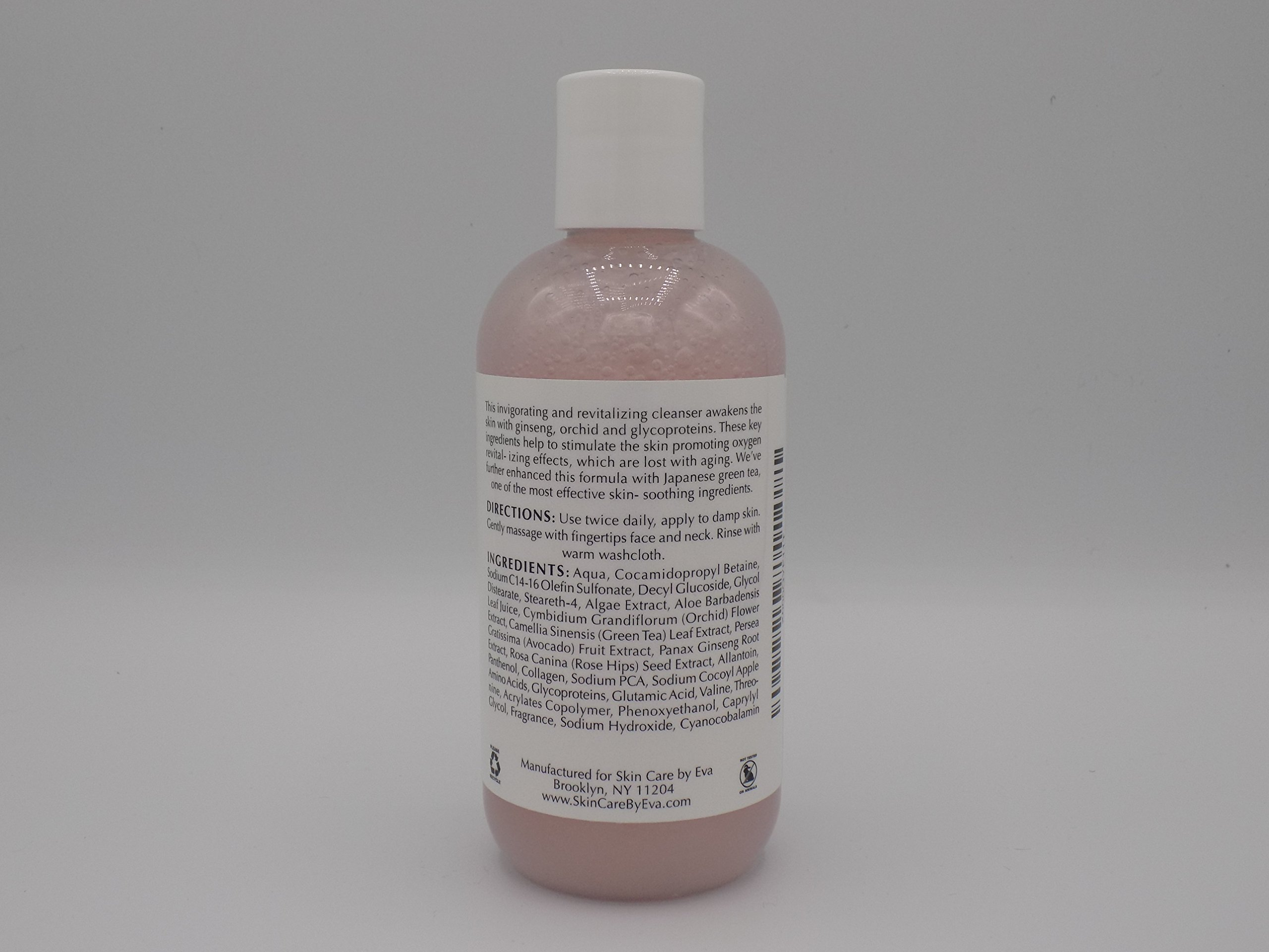 Anti Aging Oxygen Revitalizing Cleanser 6.7 Oz - with Ginseng, Orchid extract and Glycoproteins soothe redness & irritation. Gently cleans even the most delicate skin leaving skin glowing and radiant by SKIN CARE BY EVA