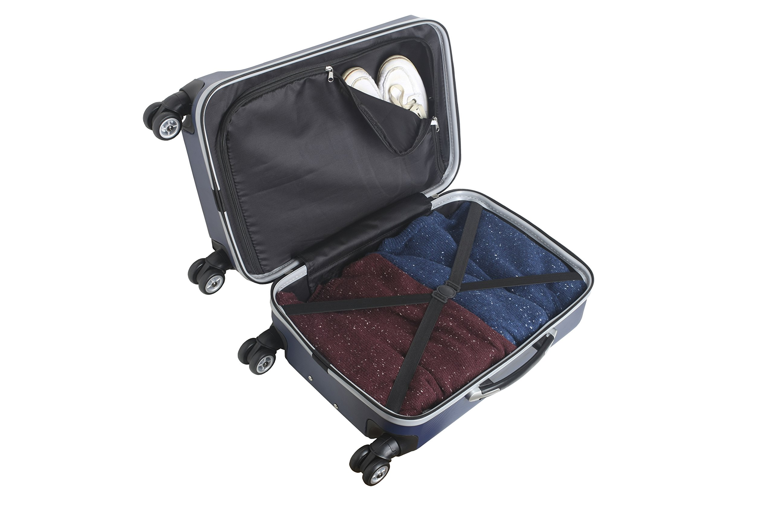 Denco NFL Indianapolis Colts Carry-On Hardcase Luggage Spinner, Navy by Denco (Image #5)