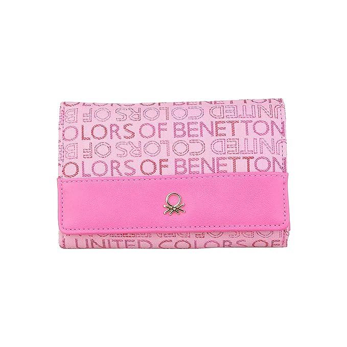 BENETTON cartera mujer 12A73746 rosa - mujer - TU: Amazon.es: Zapatos y complementos