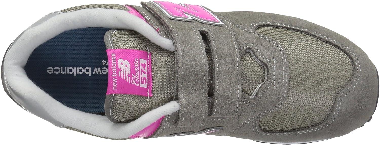 New Balance Unisex-Kinder 574v2 Core Velcro Sneaker Grey/Pink