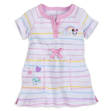 b4135e51b4eaf Amazon.com: Minnie Mouse Disney Swim Cover-up for Girls White: Clothing