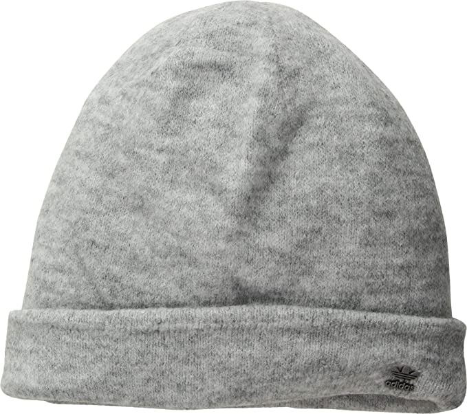 adidas Originals Women s Originals Fuzzy Beanie Grey Matte Silver One Size 19cd6bd0af0
