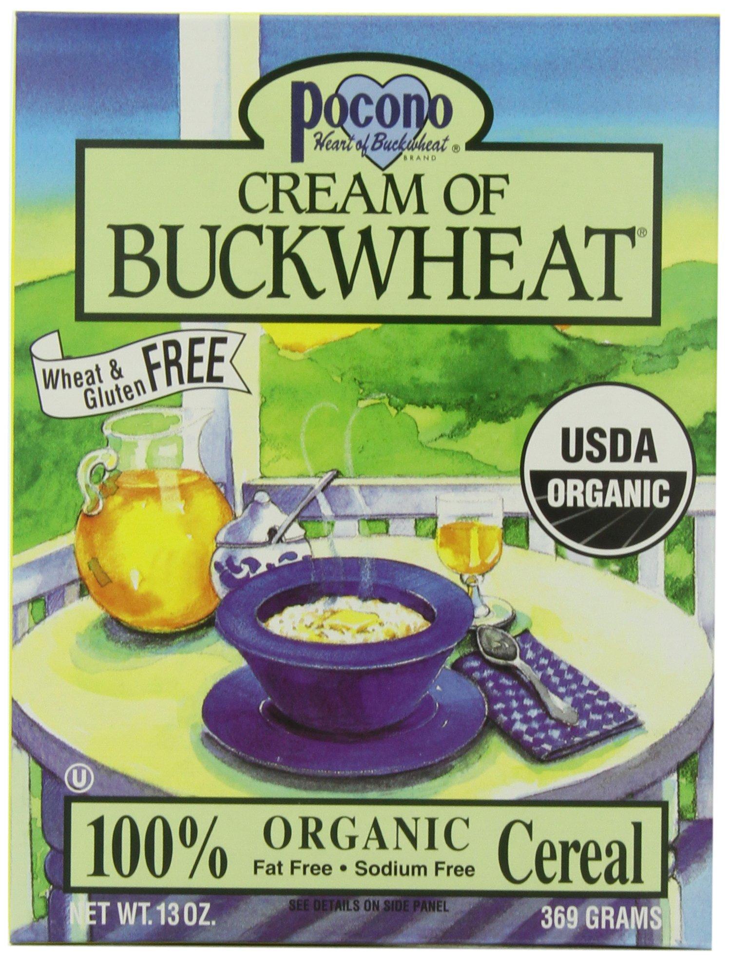 Pocono Cream of Buckwheat Gluten Free Hot Cereal, 13-Ounce (Pack of 3) by Pocono