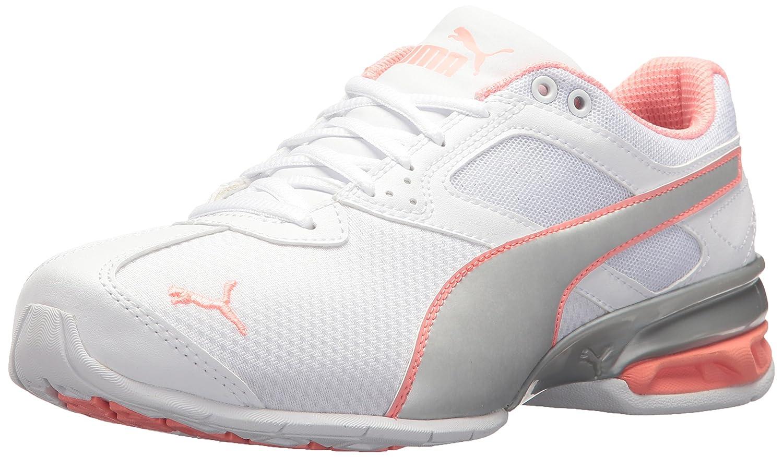 PUMA Women's Tazon 6 Metallic Wn Sneaker B072N3272C 10 B(M) US|Puma White-puma Silver-soft Fluo Peach