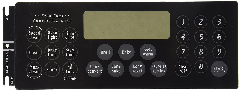 Frigidaire 316419700 Overlay Range/Stove/Oven