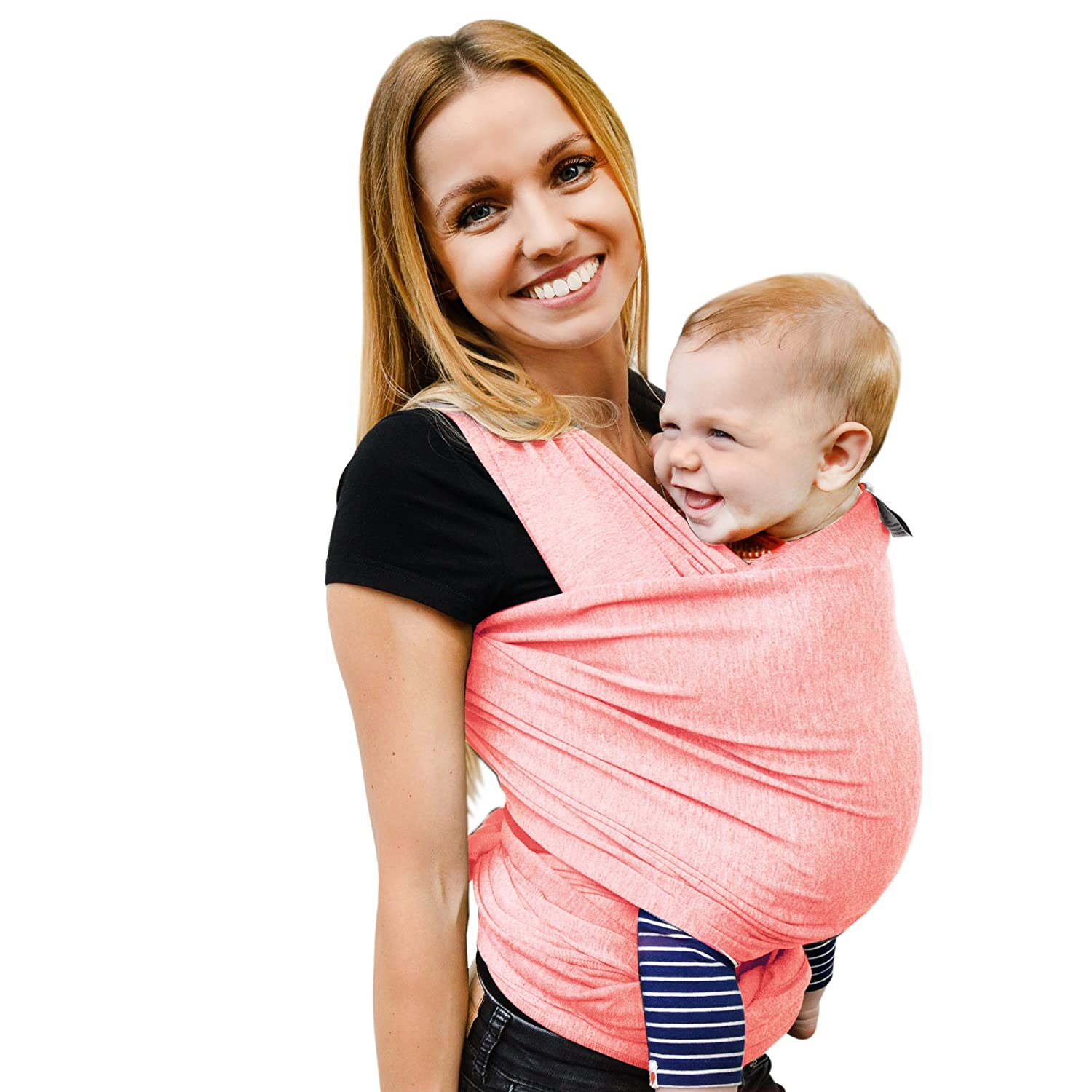 Baby Carrier Multiple Positions Soft and Lightweight Sternchen Baby Wrap Sling /»Fastique Kids/« Free eBook Sling for Newborn Toddlers /& Infants from Birth