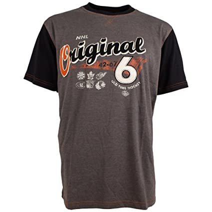 Amazon.com   NHL Original 6 Rayle Raglan T-Shirt (S)   Sports   Outdoors c79d04847