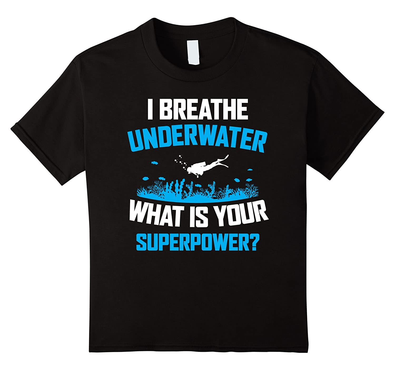 Underwater Superpower Scuba Diving T Shirt-Tovacu