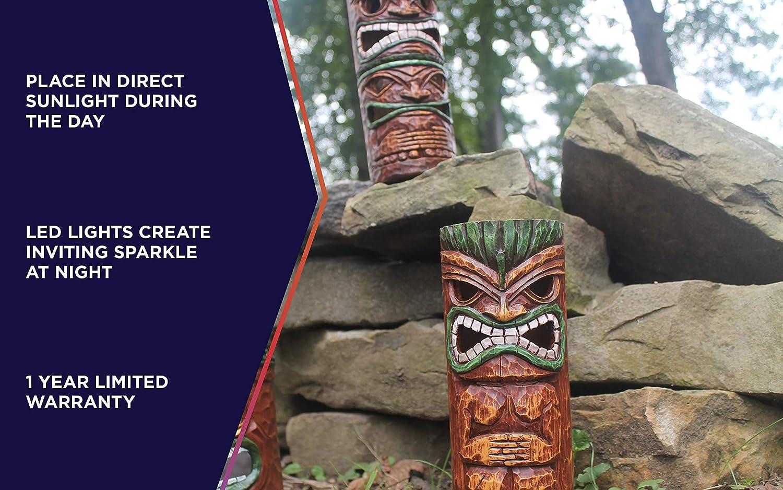 Moonrays 96337 Island Totem Statues Brown