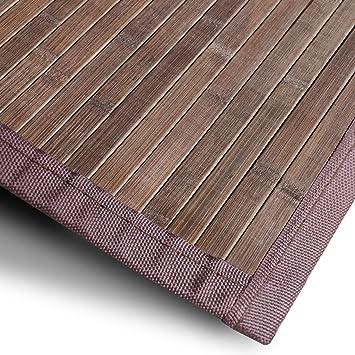 Bambusteppich Tibet (Braun) | für Bad und Wohnzimmer | natürlich ...