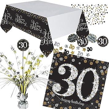 Neu 46 Tlg Tischdeko Set Sparkling Celebration Fur Den 30