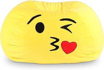 Ace Bayou GoMoji Kiss Emoji Bean Bag
