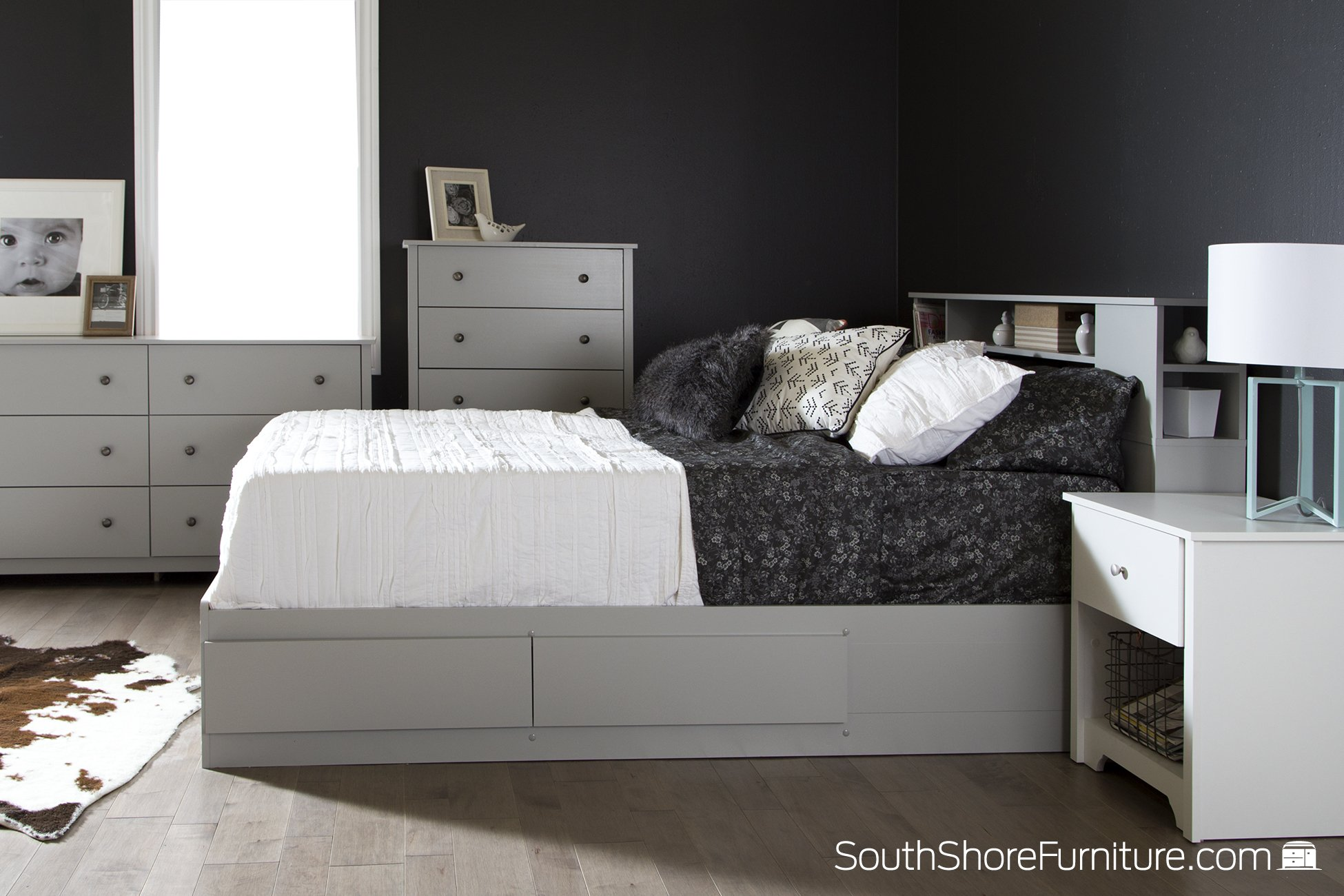 South Shore Vito 6-Drawer Double Dresser, Soft Gray by South Shore (Image #3)