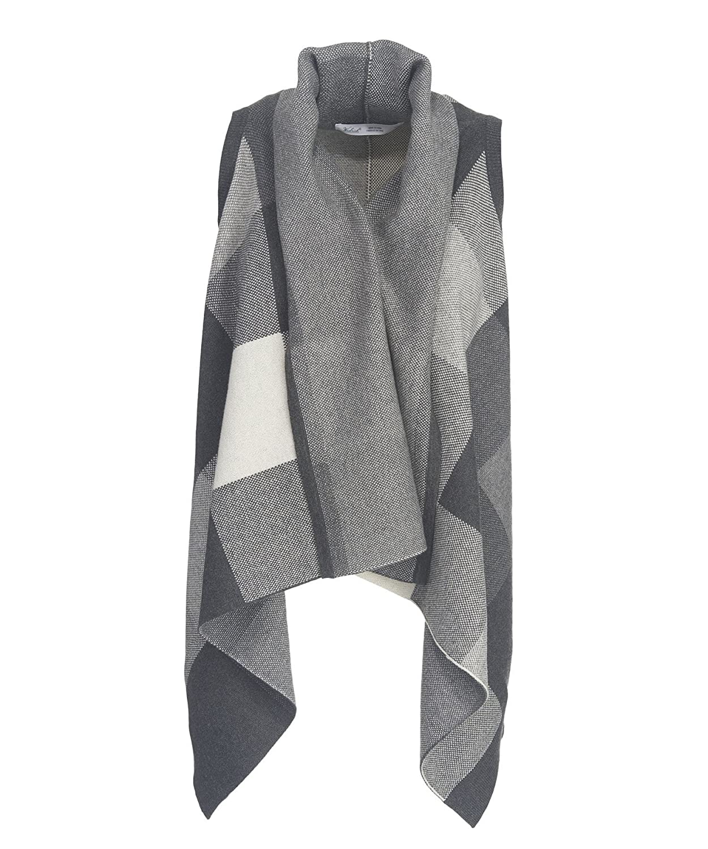 Woolrich Women's Buffalo Check Cardigan Sweater Vest Wrap at ...