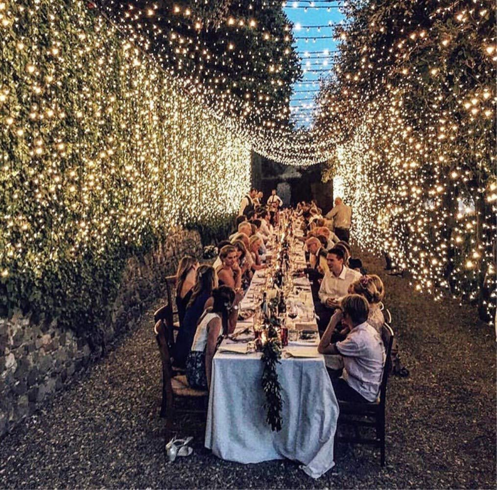 GreenClick Window Curtain String Lights, 32.8ft 480 Leds Fairy String Lights Wedding Party Garden Bedroom Outdoor Indoor Decorations,Waterproof, 8 Lighting Modes, UL Listed Adapter (Warm White) by GreenClick (Image #8)