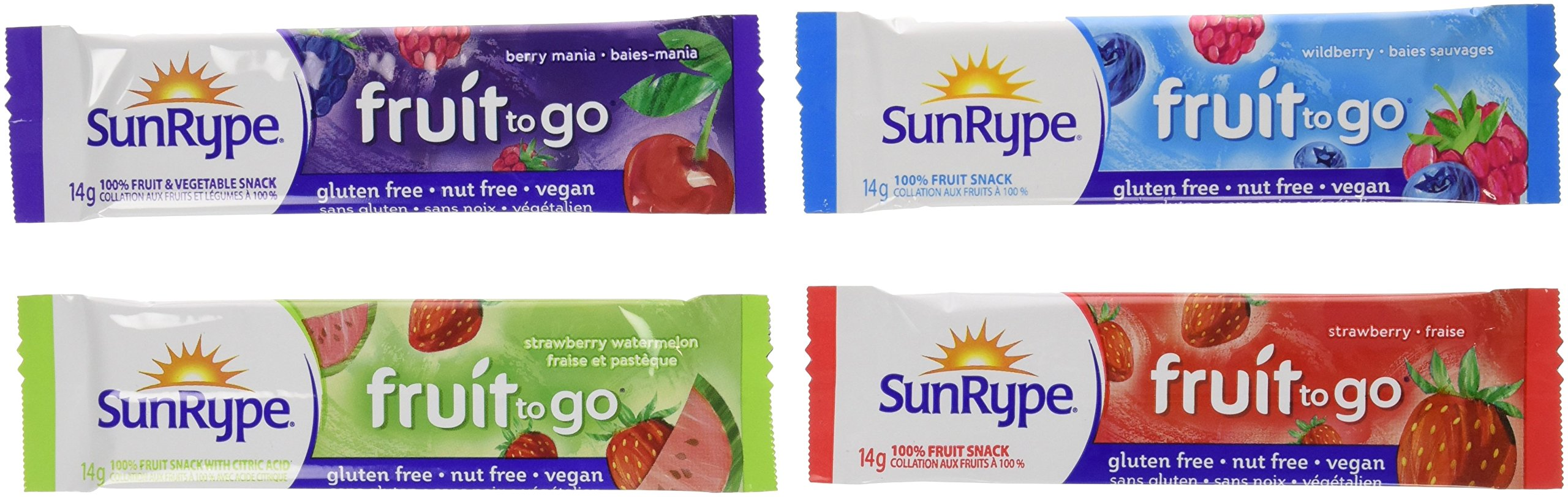 SunRype Fruit to Go Snack - Variety Pack of 72 {Imported from Canada} by SunRype