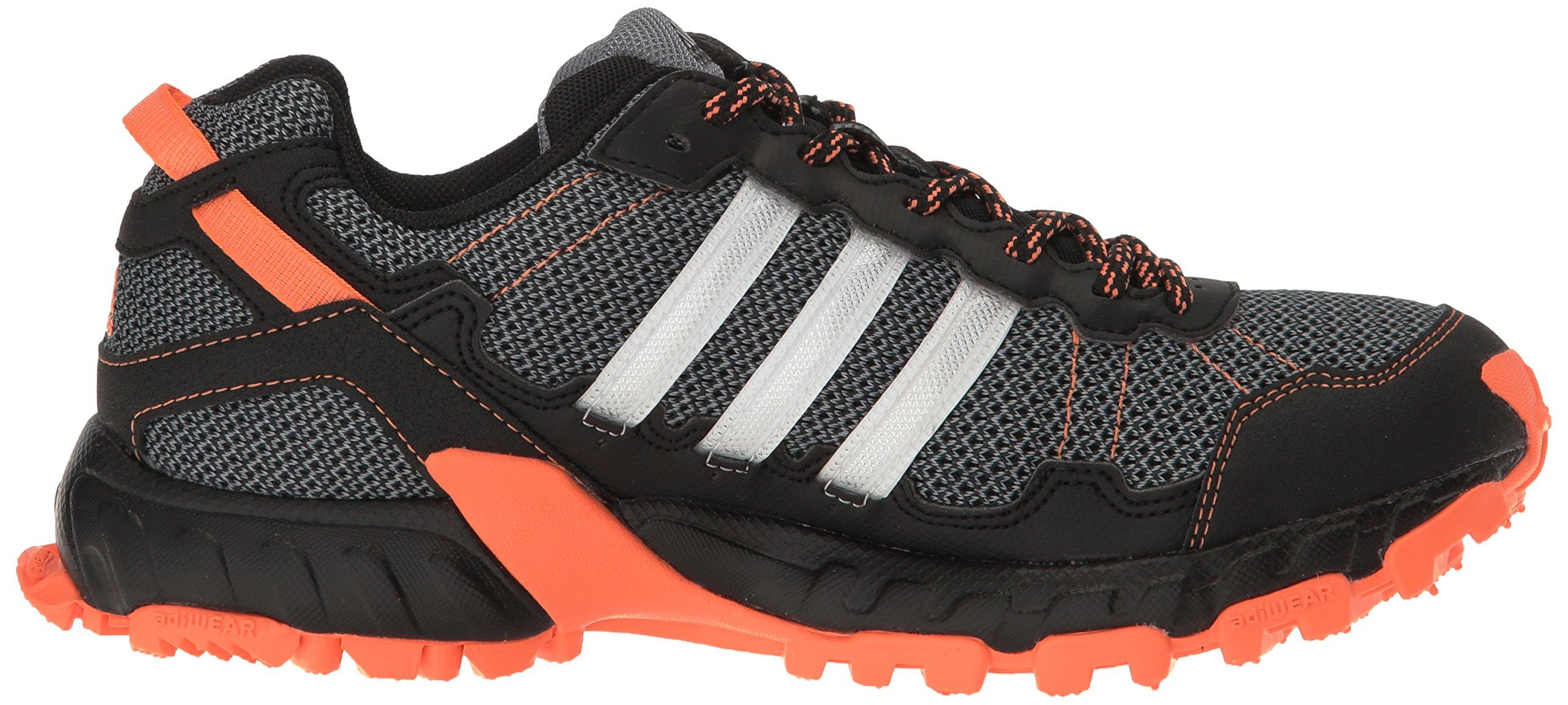 adidas Women's Rockadia Trail W Running Shoe Black/White/Easy Orange 6 M US by adidas (Image #7)