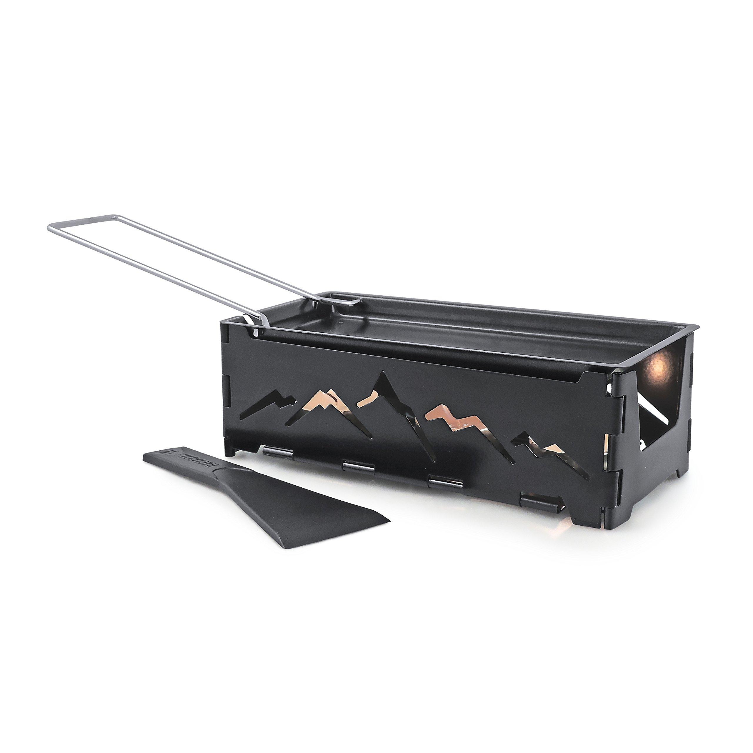 Swissmar Nordic Foldable Candlelight Raclette, Black
