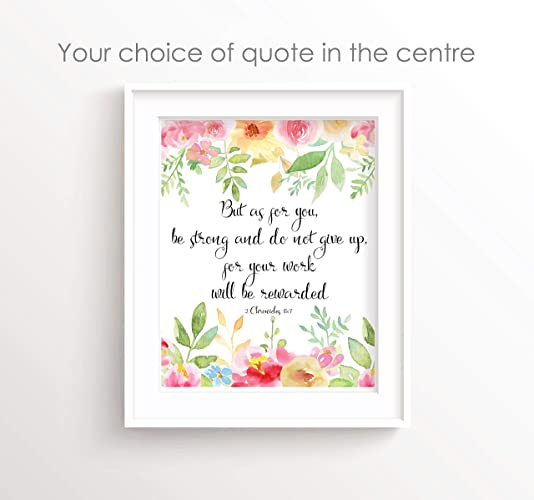 Bible Quotes Wall Art Prints A4 Bible Verse For Women Christian