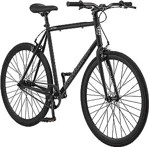 Schwinn Stites Fixie Adult Commuter Road Bike, Single-Speed, Steel Stand-Over Frame, 700c Wheels, Flip-Flop Hub, Multiple Colors