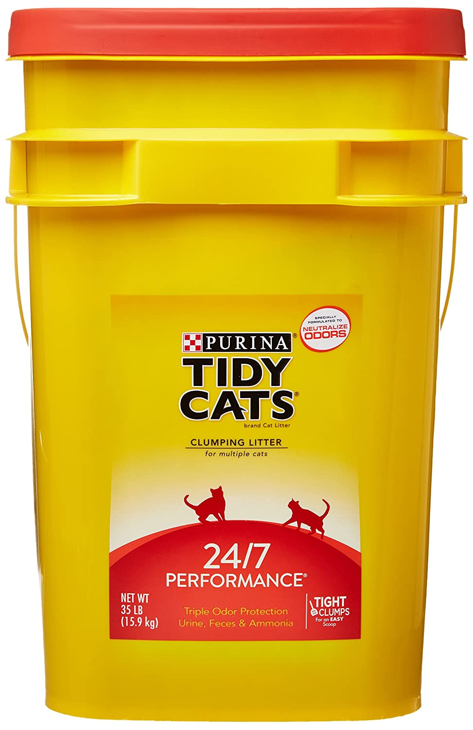 GOLDEN CAT COMPANY 702013 Tidy Cats Long Lasting Odor Control Scoop Pail 35 Pound