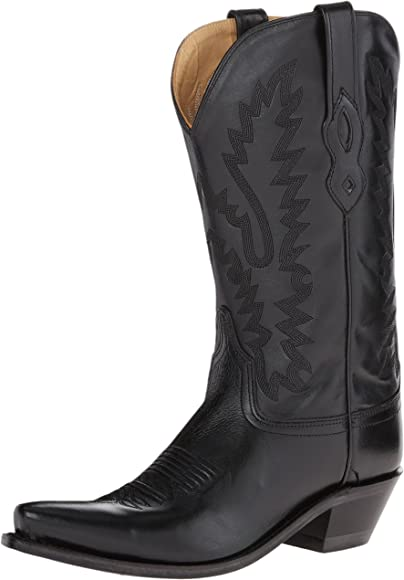 Old West Black Womens All Leather 12in