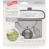 Yankee Candle Charming Scents Car Air Freshener Refill 2-Pack, Pink Sands - 1585489, White, Charming Scents Linear Starter Kit
