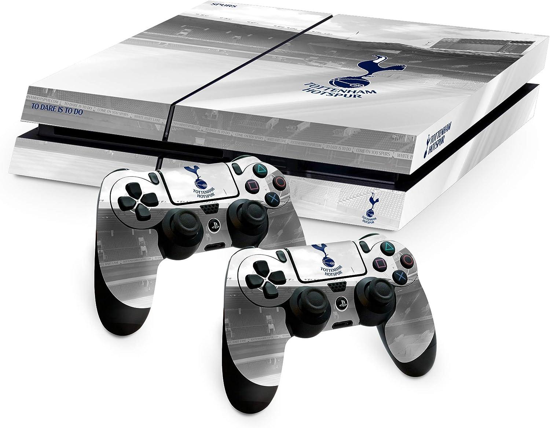 Tottenham Spurs FC Playstation 4 PS4 una almohadilla blanca de mando y la consola de la piel White Hart Lane imagen Estadio escudo del club oficial de regalos: Amazon.es: Videojuegos