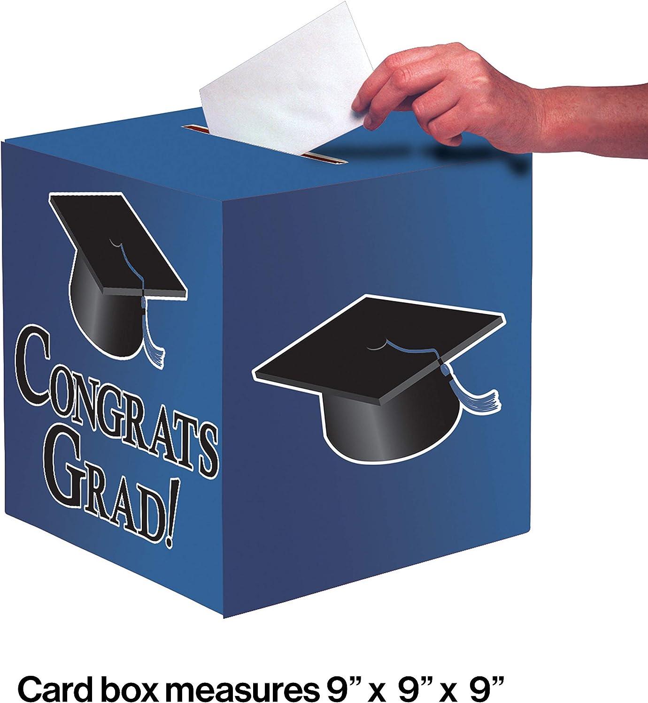Creative Converting Graduation Card Holder Box Congrats Grad True Blue One Size Kitchen Dining