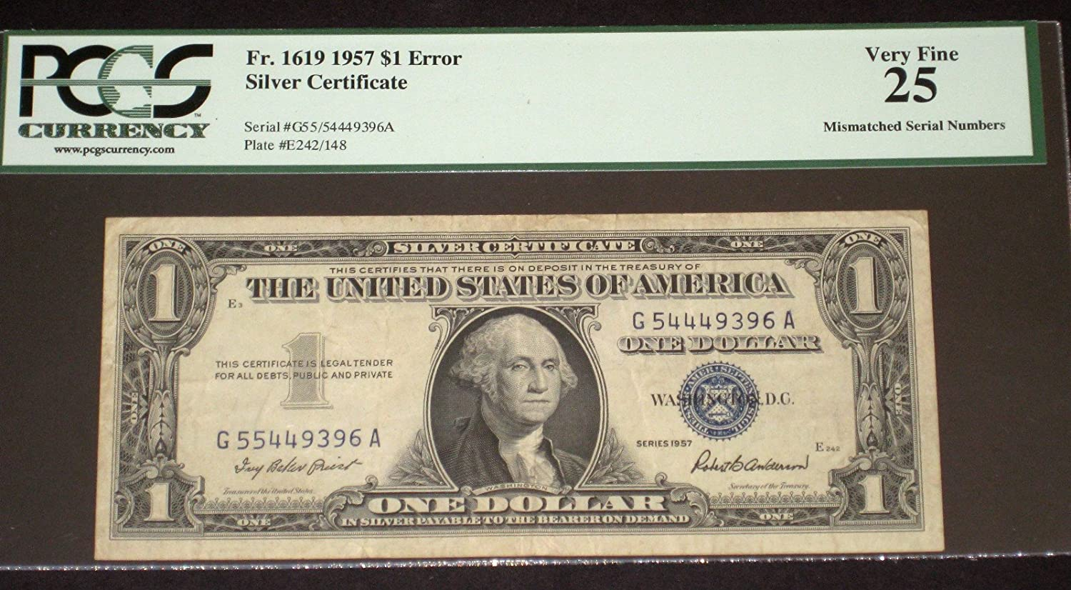 Amazon Error Mismatched Serial Number 1 1957 Silver