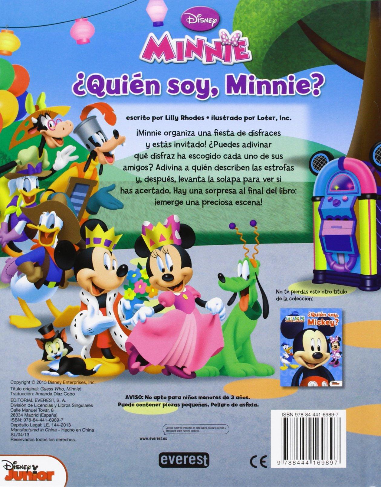 Quién soy, Minnie? (Casa Mickey Especiales): Amazon.es: Walt Disney Company, Rhodes Lilly, Loter, Inc, Walt Disney Company, Everest: Libros
