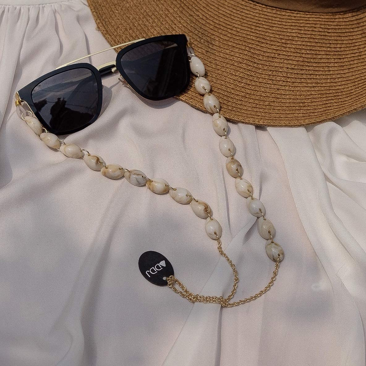 ADDJ Eyeglasses Chains Eyewear Strap Sunglasses Holder Reading Glasses Retainer Lanyard Cowrie Shell Conch