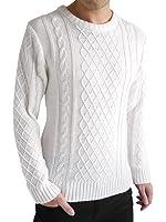 (オークランド) Oakland ケーブル編み ニット セーター フィッシャーマン ケーブル デザイン カジュアル トップス 編み MODE メンズ