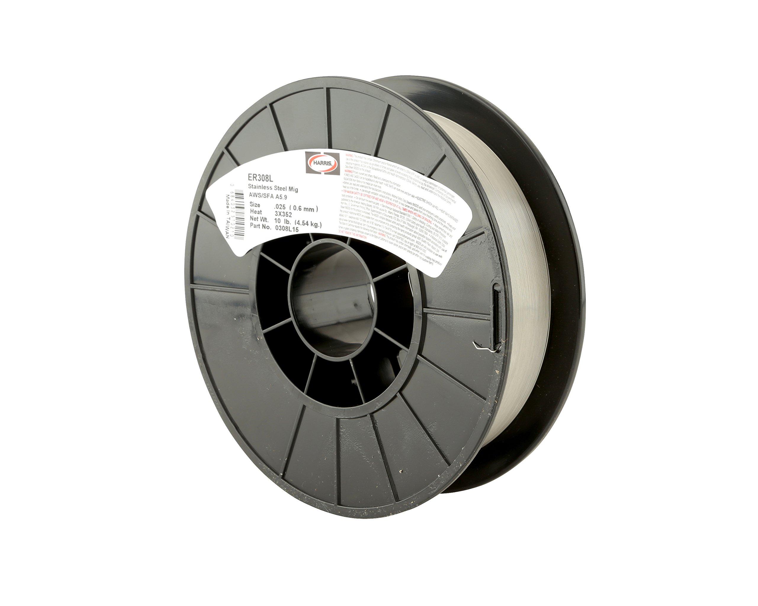 Harris 0308L12 308L Welding Wire, Stainless Steel Spool, 0.025'' x 2 lb.