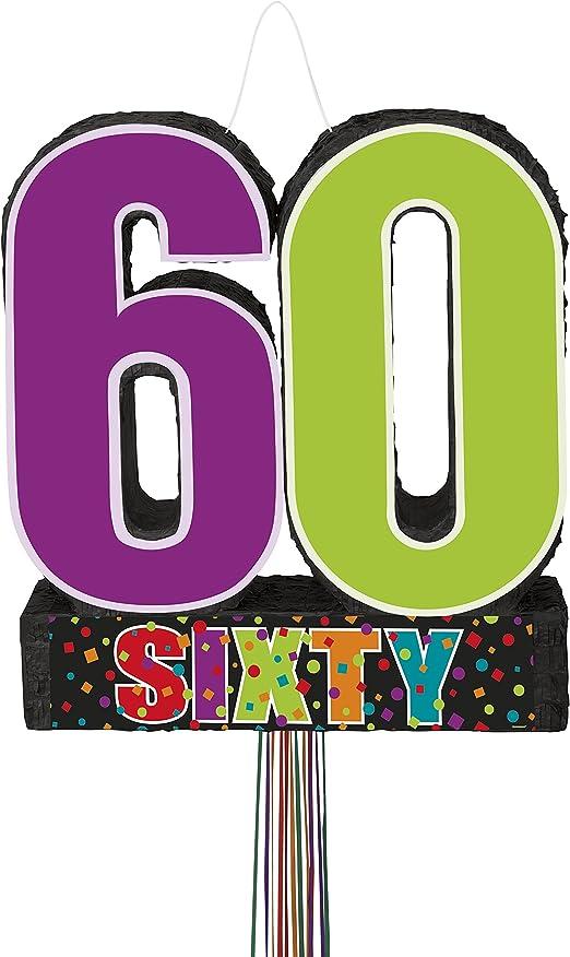 Amazon.com: Cumpleaños Cheer 60th cumpleaños tiara, Piñata ...