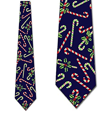 christmas necktie candy cane ties mens tie at amazon men s clothing