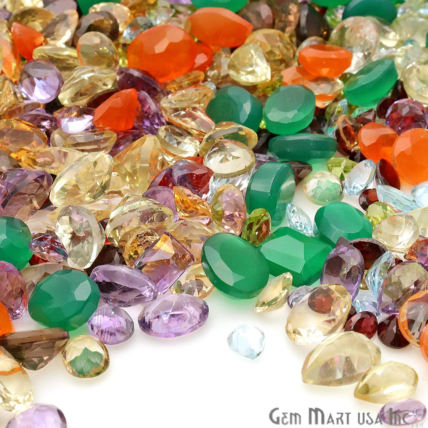 EM-60002 Wholesale 20cts Lot Aaa Quality Natural Emerald 4mm Round loose gemstone for Making jewelry GemMartUSA
