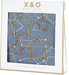 C.R. Gibson Gold Star Paper Clips, Office Supplies, 4'' W x 4.4'' H x .75'' D, 10 pcs