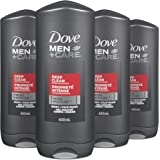 Dove Men+Care Body and Face Wash Deep Clean Not Only Washes Away Bacteria but Hydrates Skin 400 mL 4 Pack