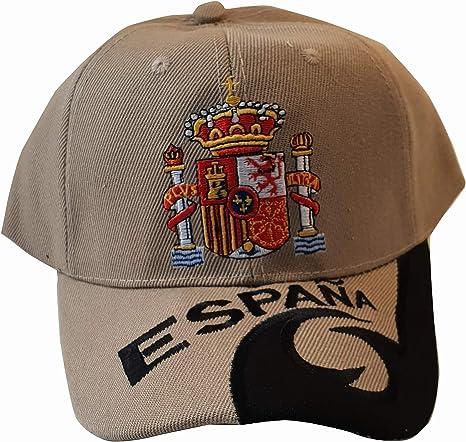 Q&J Gorra con Escudo de España Color Blanco - Talla Adulto ...