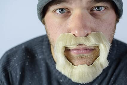 Get Ations 1 Point Goatee Color Blonde Lacey Wigs Beard Synthetic Lace Backed Hand Made Fake