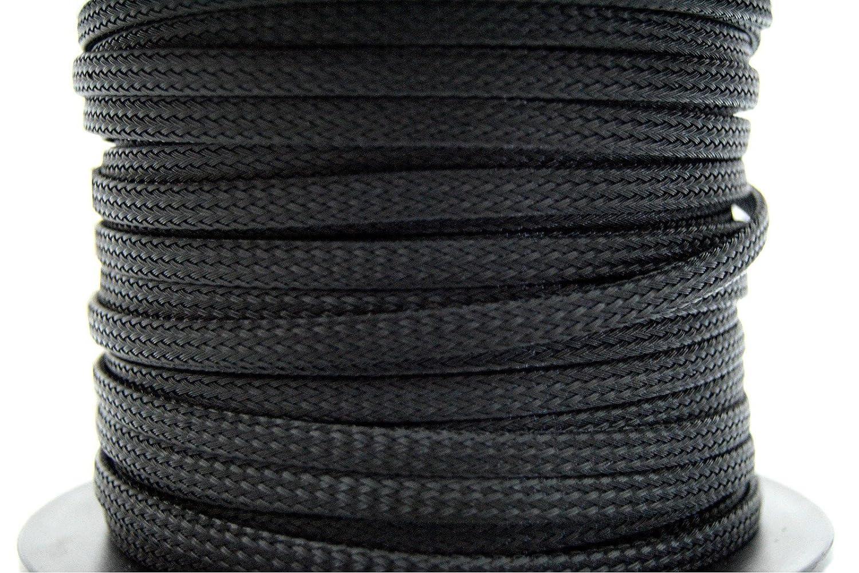 Amazon.com: BLACK 1/4 100FT BRAIDED EXPANDABLE FLEX SLEEVE WIRING ...