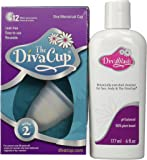 Diva Model 2 Cup Menstrual Solution and Divawash