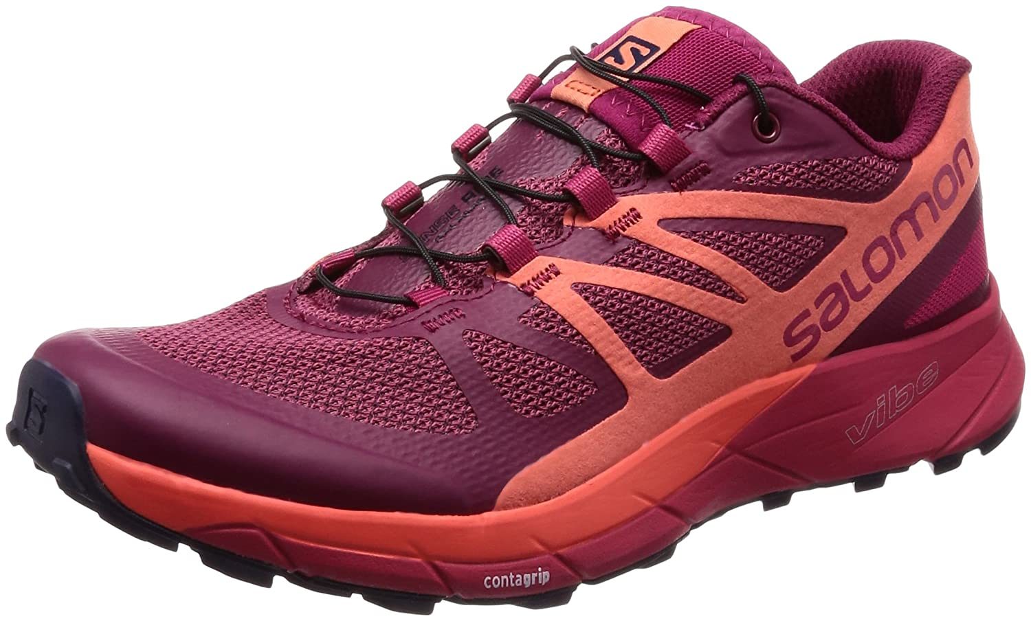 Salomon Sense Ride Running Shoe - Women's B01N1J0PE7 8|SANGRIA L398486