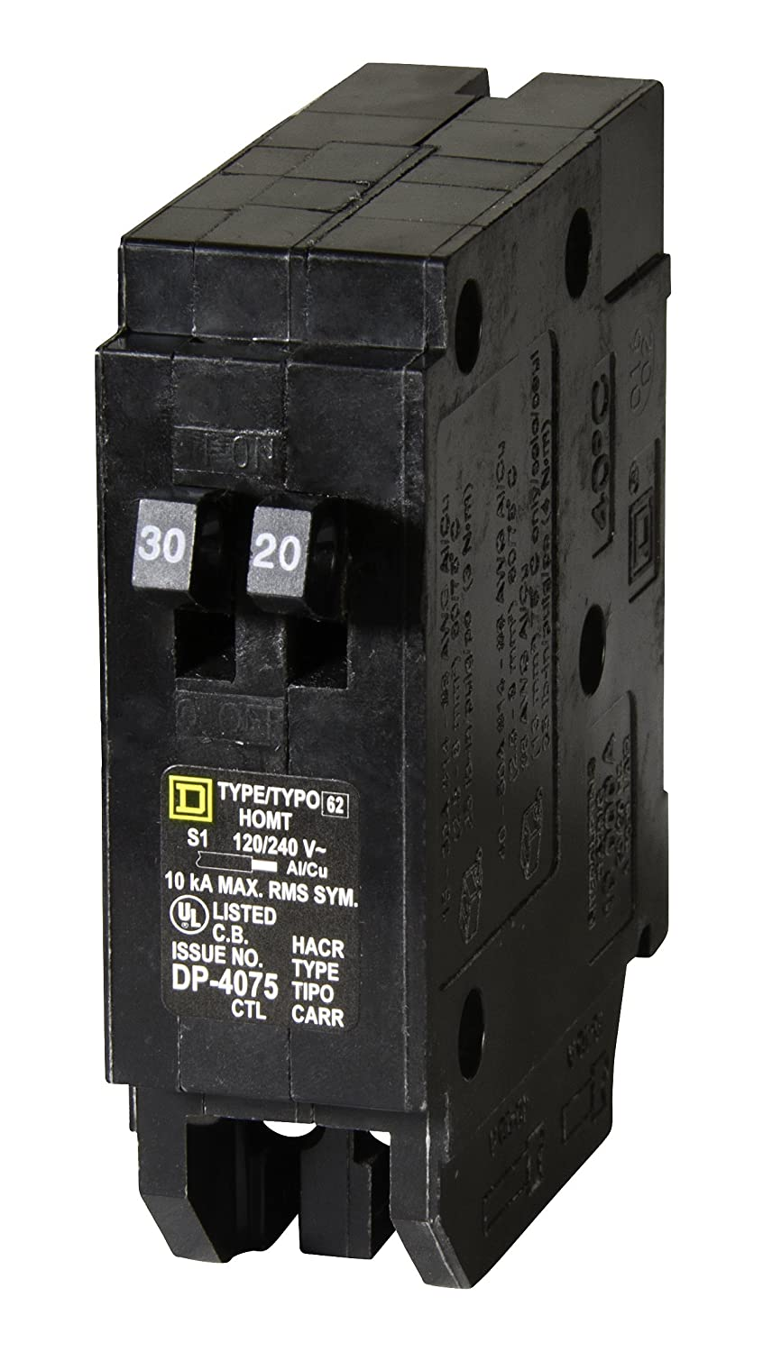 Square D By Schneider Electric Homt3020 Homeline 1 30 Amp 20 Breaker What Should Be Used A Gfci Or Is 15 Single Pole Tandem Circuit Thermal Magnetic Breakers