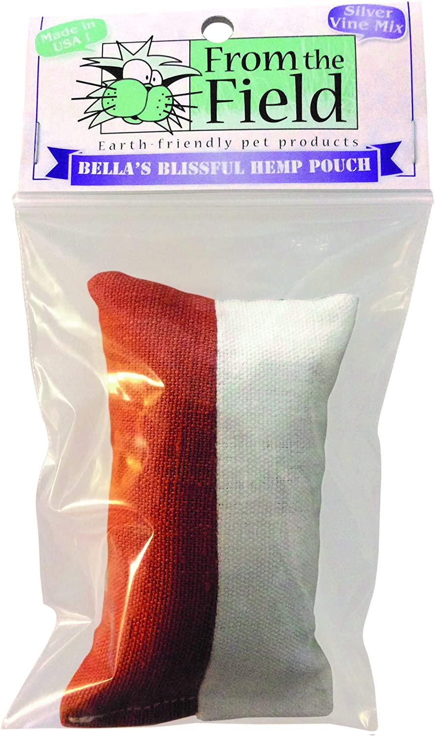 From The Field Bella's Blissful Hemp Pouch Catnip Toy with Silver Vine