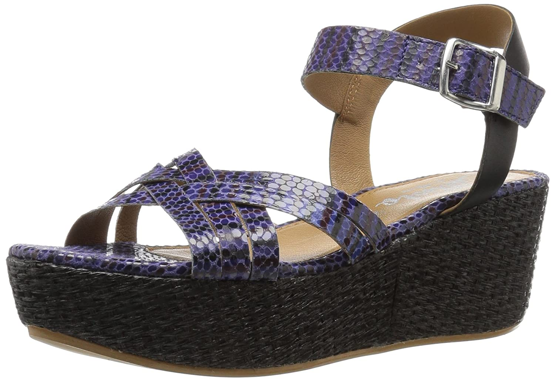 Callisto Women's Valencia Platform Sandal B01L0R0V8W 5 B(M) US Blue
